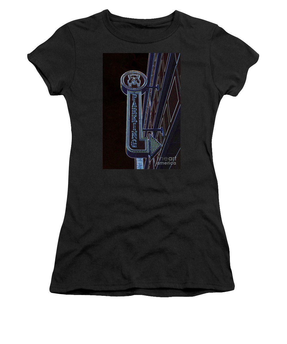 Parking Women's T-Shirt (Athletic Fit) featuring the photograph Parking by Grace Grogan