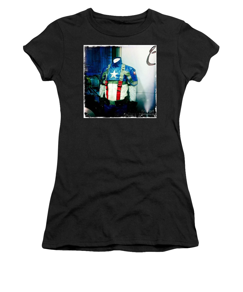Patriotic Outfit Women's T-Shirt (Athletic Fit) featuring the photograph Patriotic Outfit by Nina Prommer