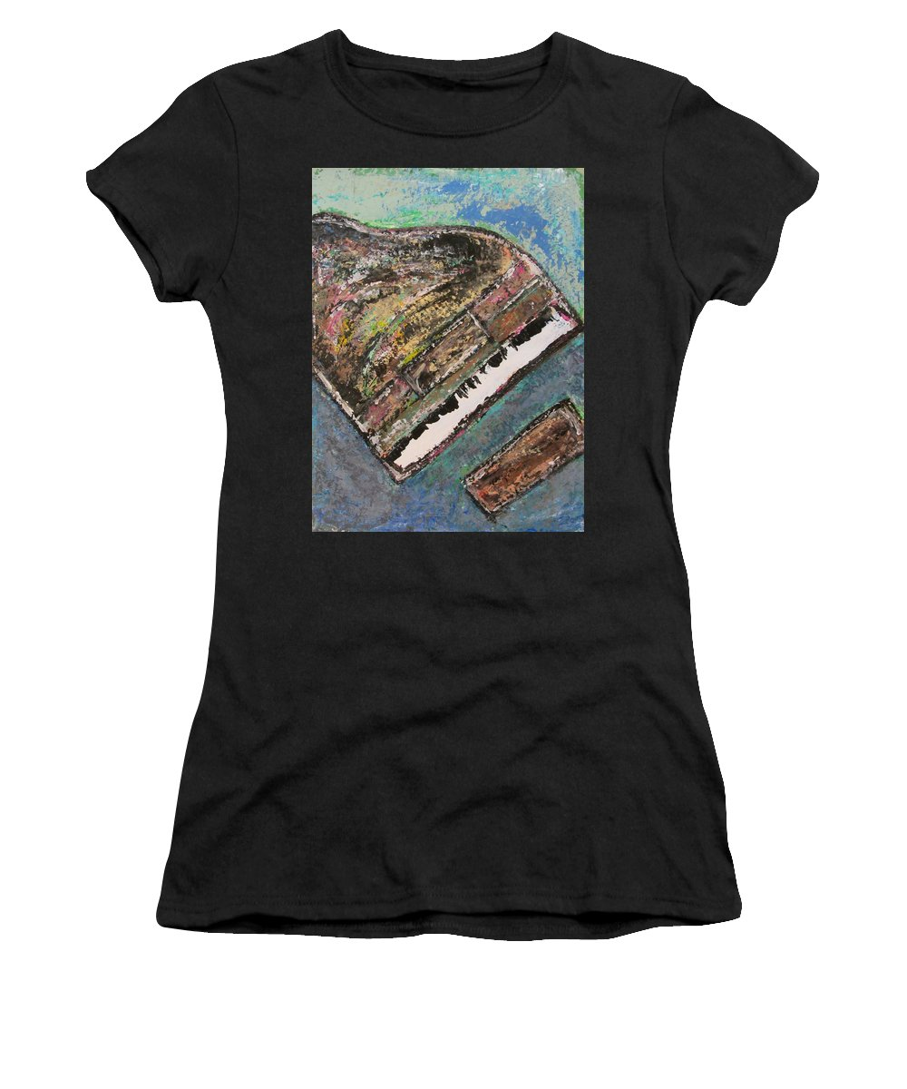 Piano Women's T-Shirt (Athletic Fit) featuring the painting Piano Study 7 by Anita Burgermeister