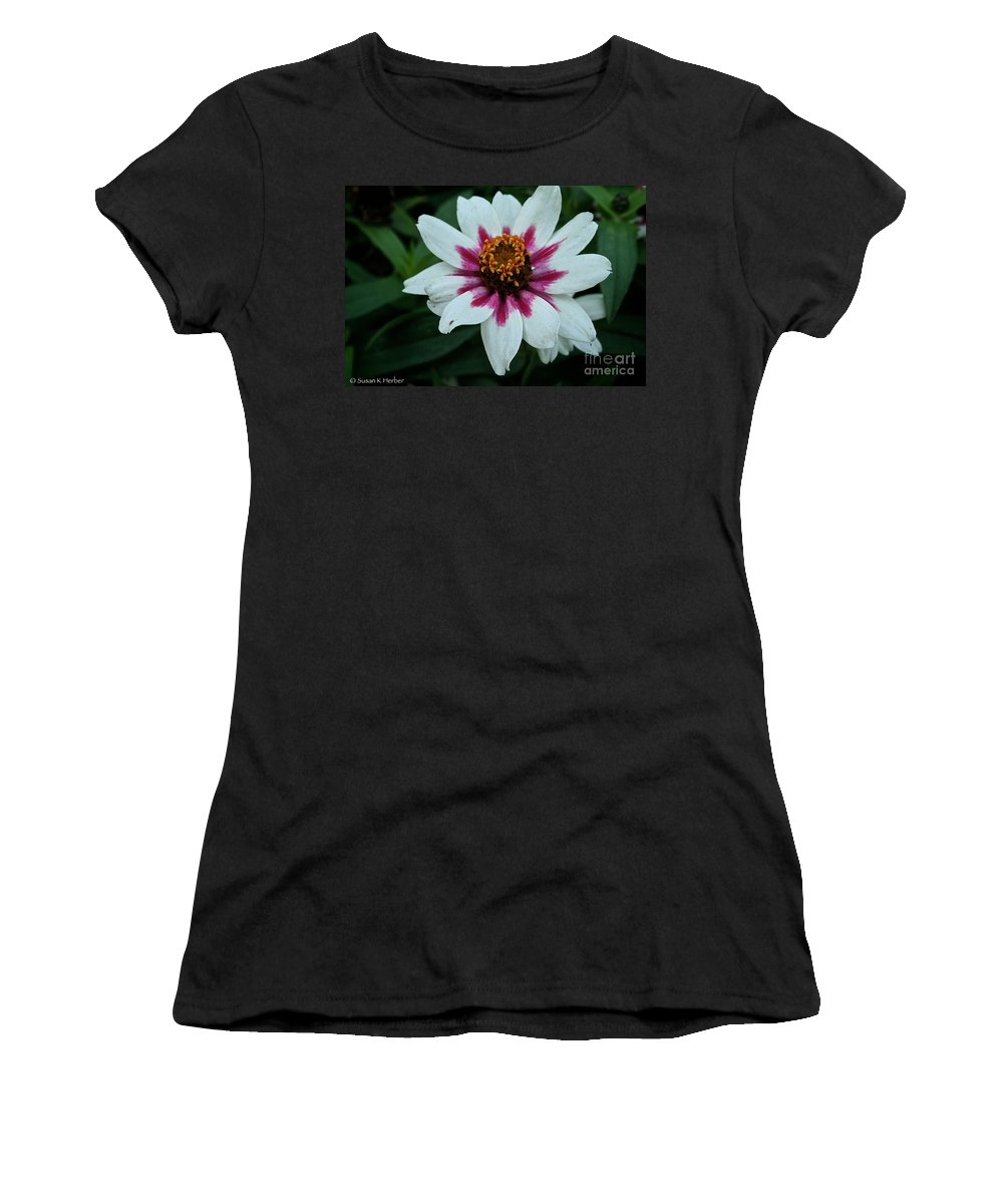 Outdoors Women's T-Shirt (Athletic Fit) featuring the photograph Pink And White by Susan Herber
