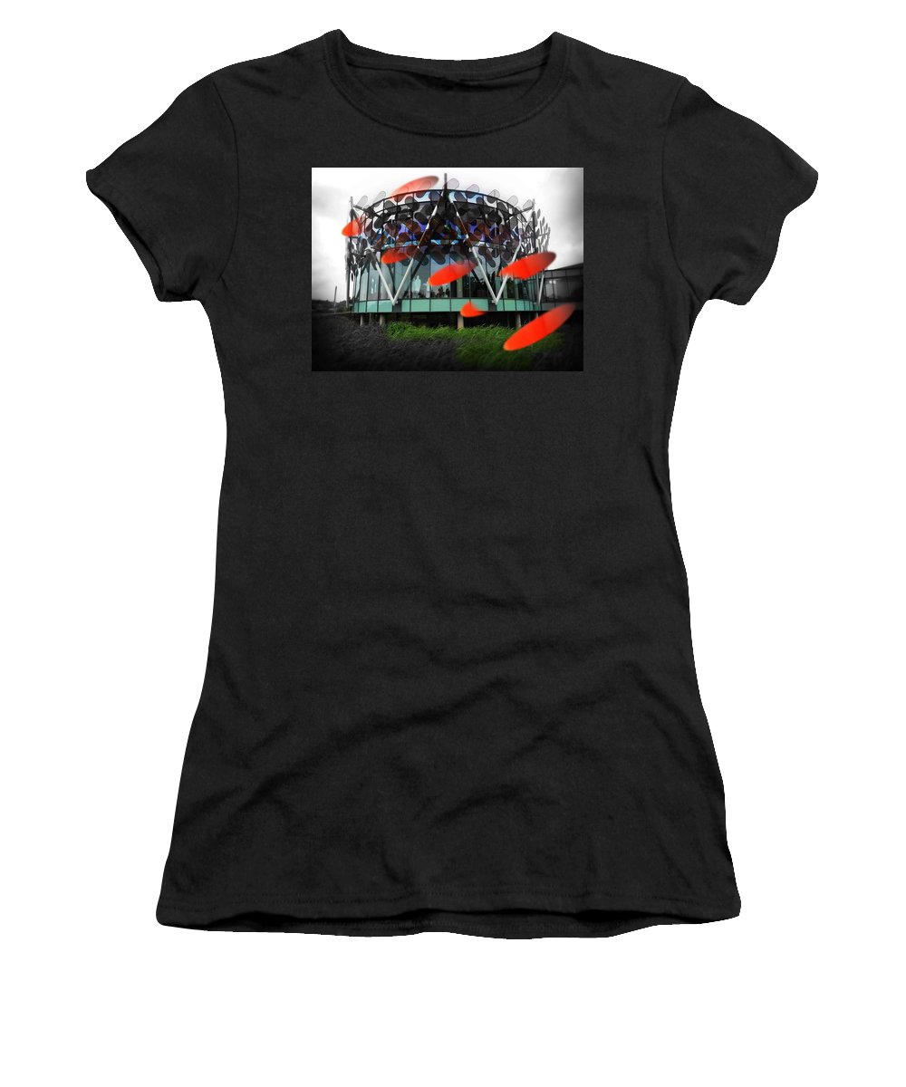 Architecture Women's T-Shirt featuring the photograph Pink Floyd Park by Charles Stuart