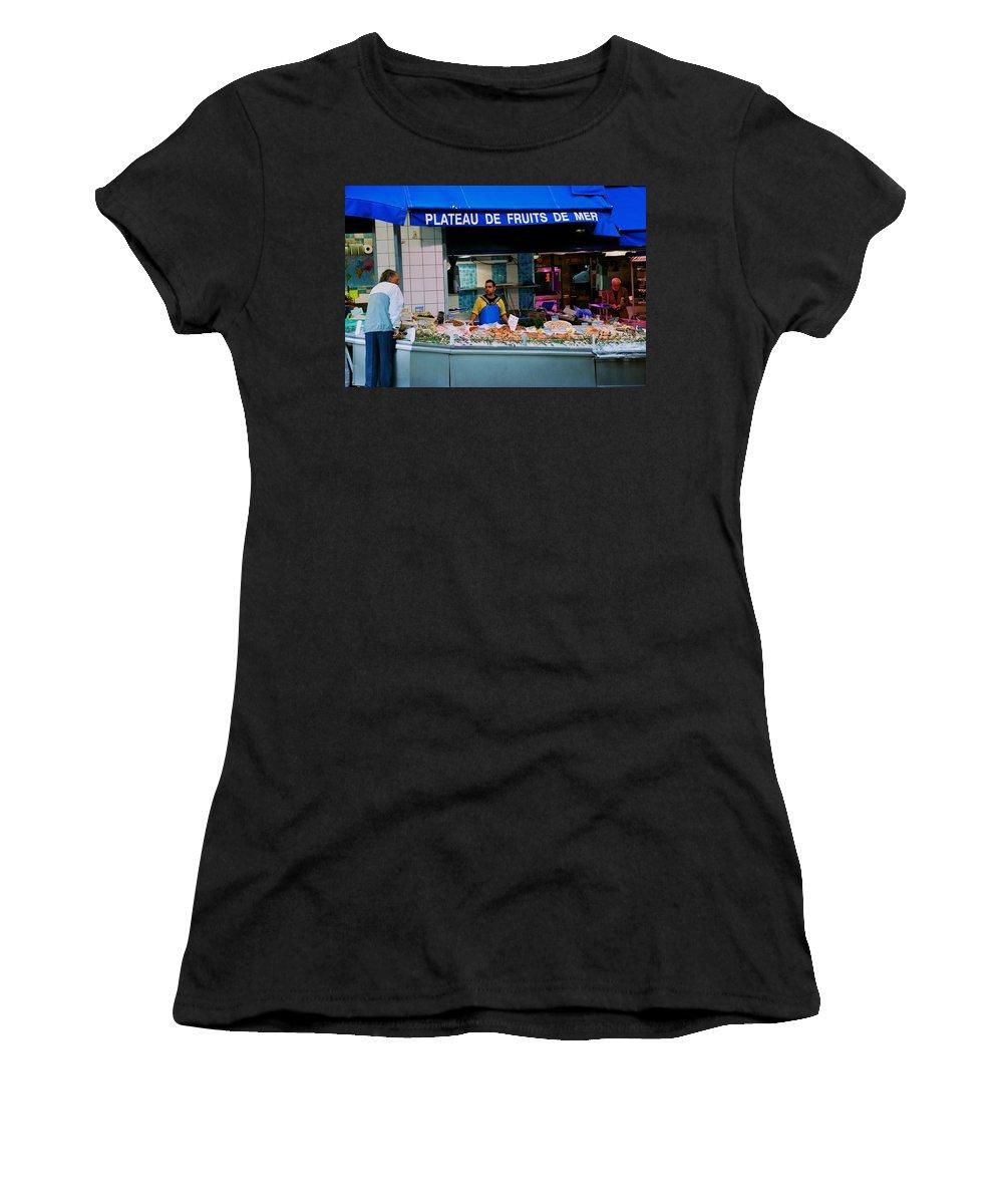 Paris Women's T-Shirt (Athletic Fit) featuring the photograph Plateau De Fruits De Mer by Eric Tressler