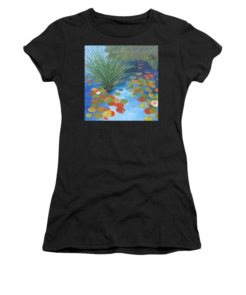 Pond Women's T-Shirt featuring the painting Pond Revisited by Gary Coleman