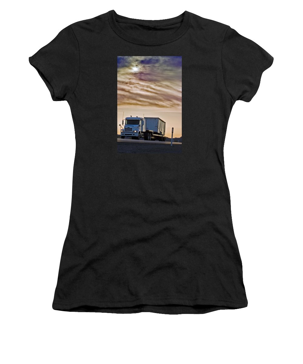 Landscape Women's T-Shirt (Athletic Fit) featuring the photograph Precious Cargo by Shani Soils