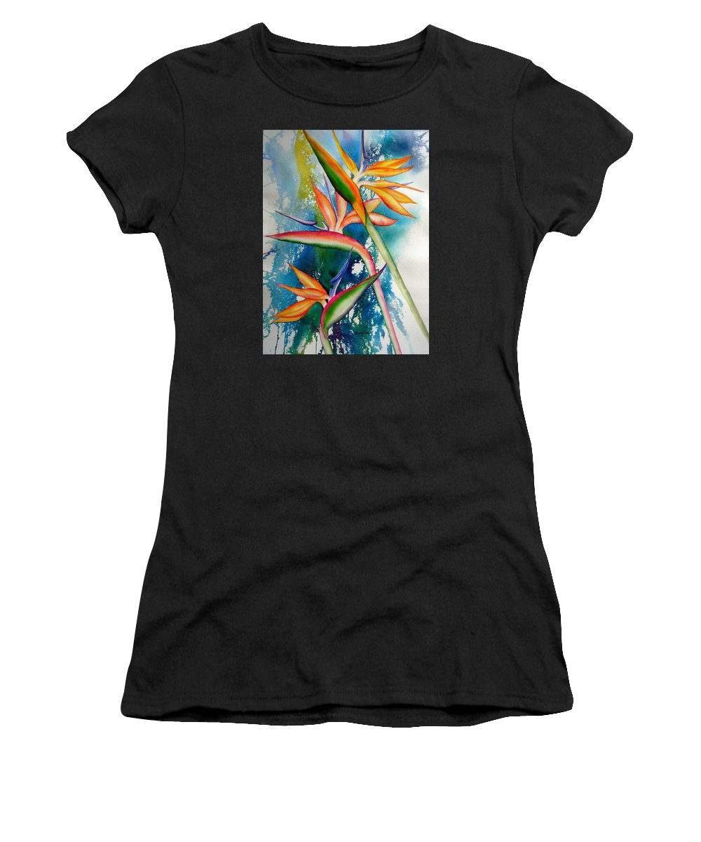 Nature Women's T-Shirt featuring the painting Proud by Candy Yu
