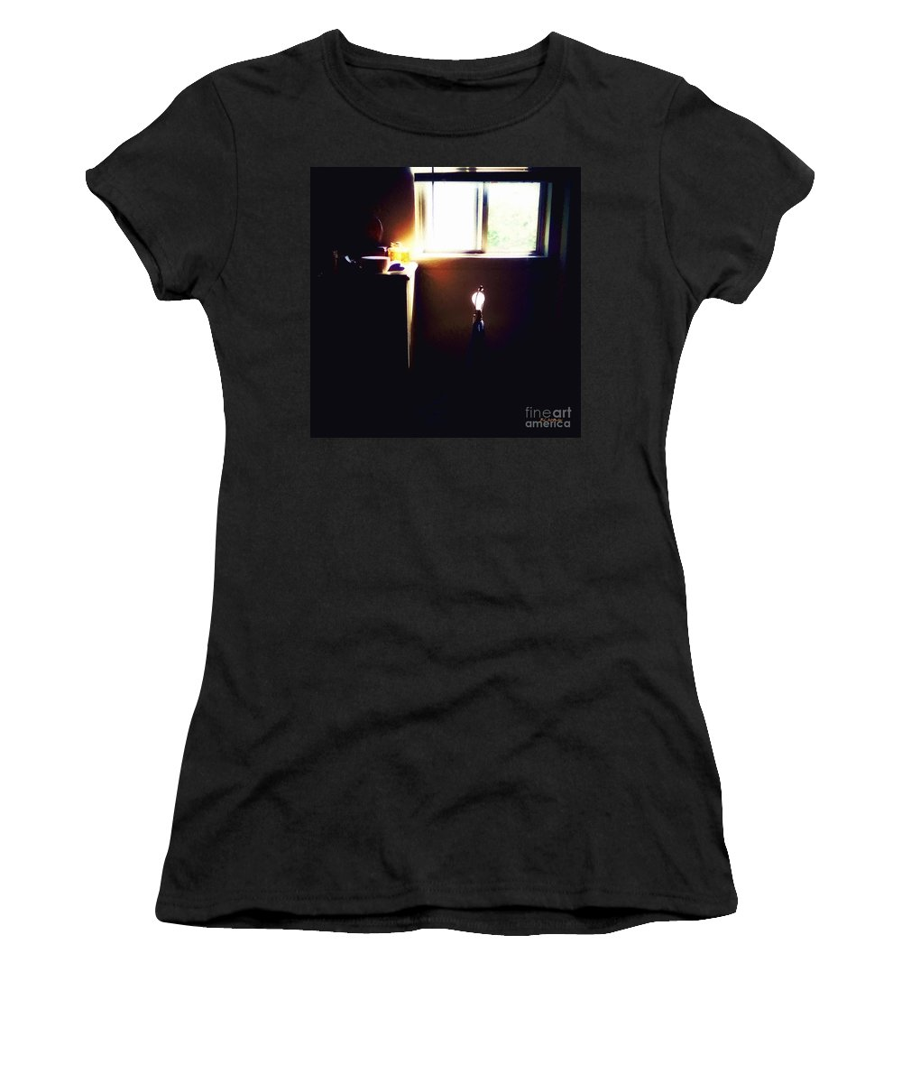 Bedroom Women's T-Shirt (Athletic Fit) featuring the painting Purple Heart by RC DeWinter