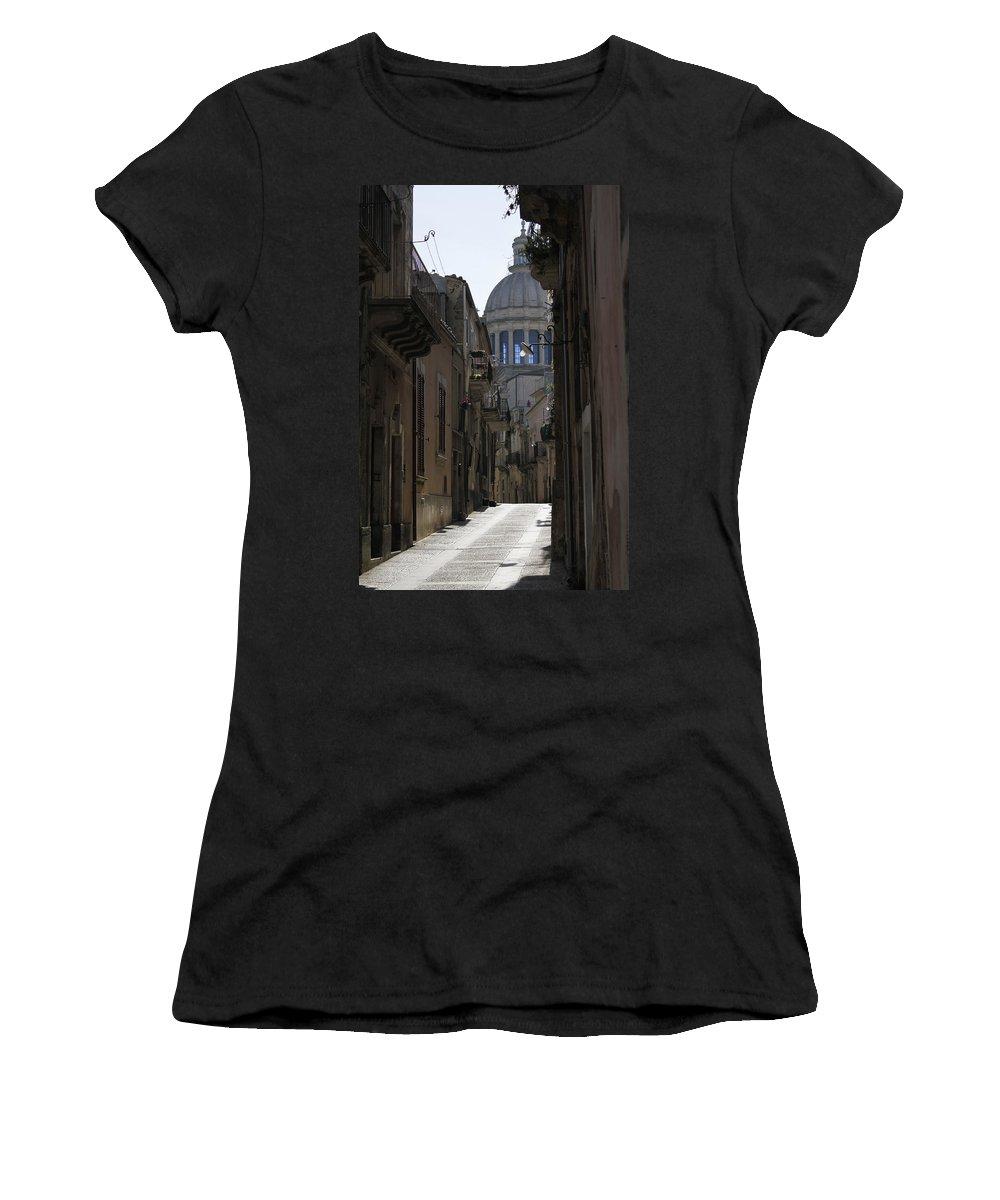 Ragusa Ibla Women's T-Shirt featuring the photograph Ragusa Ibla by Donato Iannuzzi