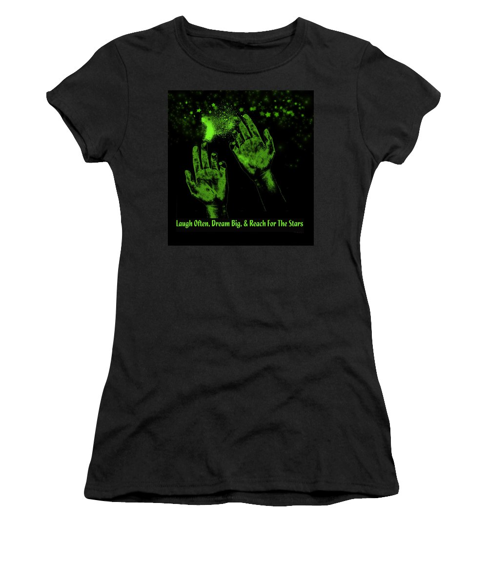 Digital Art Women's T-Shirt featuring the digital art Reaching For The Stars by Ericamaxine Price