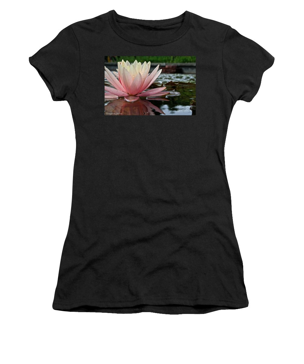 Outdoors Women's T-Shirt (Athletic Fit) featuring the photograph Reflections Of Summer by Susan Herber