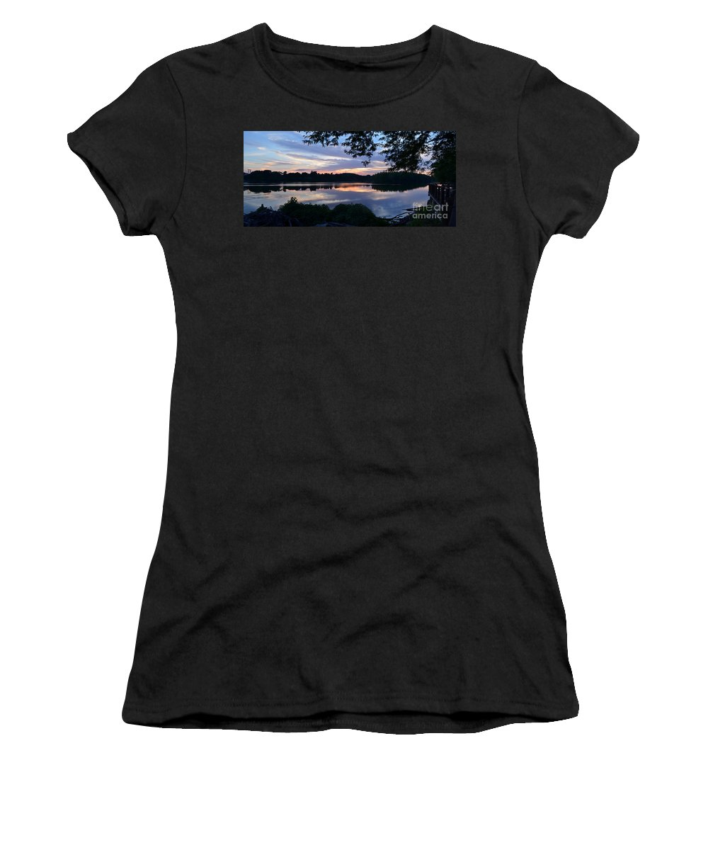 Color Photography Women's T-Shirt (Athletic Fit) featuring the photograph River Of Tranquility by Sue Stefanowicz