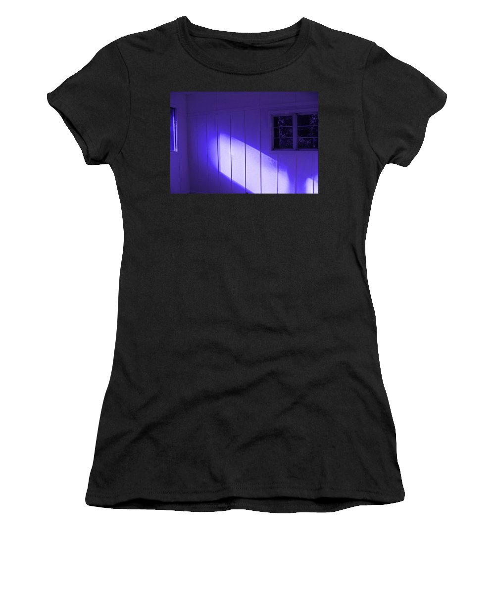 Ultra Violet Light In Room Women's T-Shirt (Athletic Fit) featuring the photograph Room With A Mood by Kym Backland