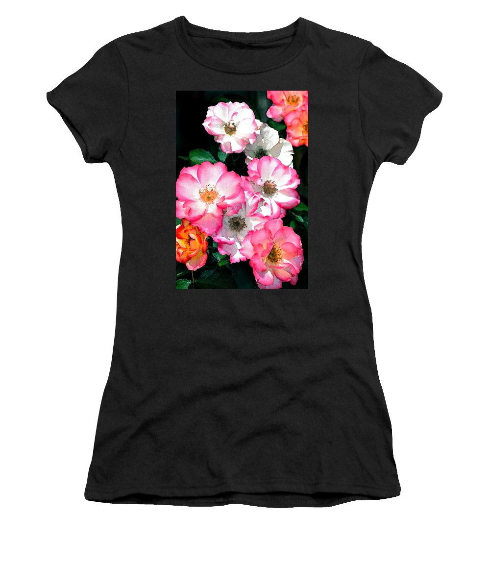 Floral Women's T-Shirt featuring the photograph Rose 133 by Pamela Cooper