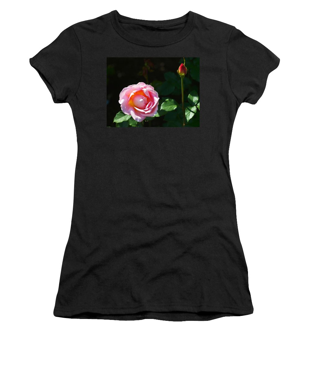 Flower Women's T-Shirt (Athletic Fit) featuring the photograph Rose In Chicago Botanic Garden by Paul Ge