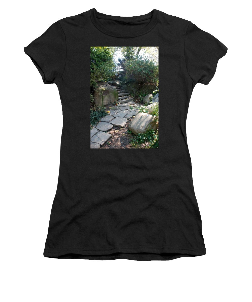 Central Park Women's T-Shirt featuring the photograph Rural Steps by Rob Hans