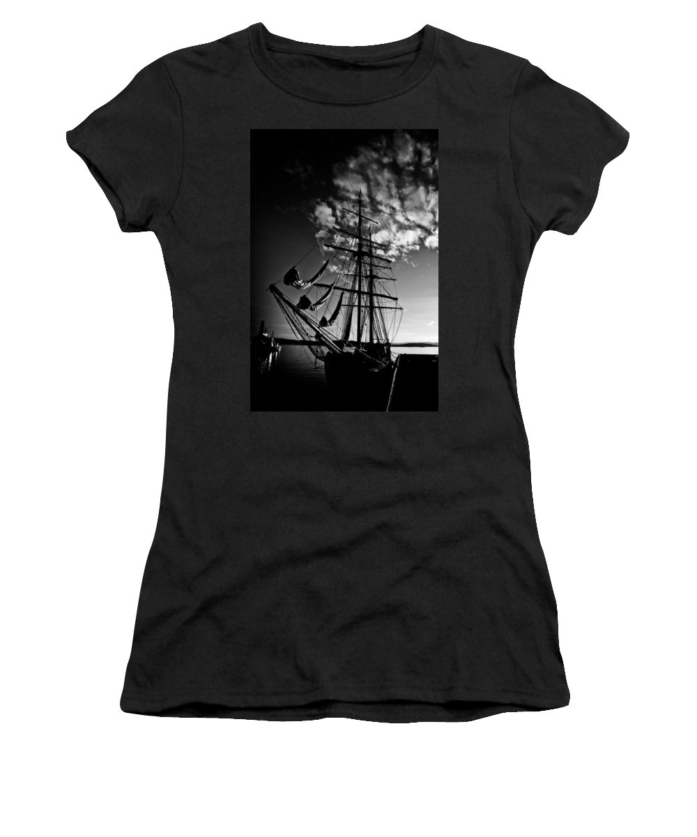 Art Women's T-Shirt (Athletic Fit) featuring the photograph Sails In The Sunset by Hakon Soreide