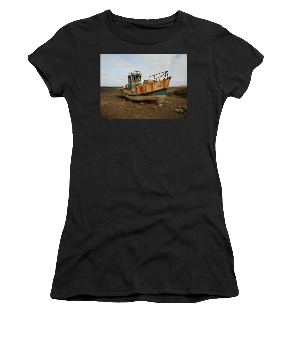 Boat Women's T-Shirt featuring the photograph Salty Remains by Julia Raddatz