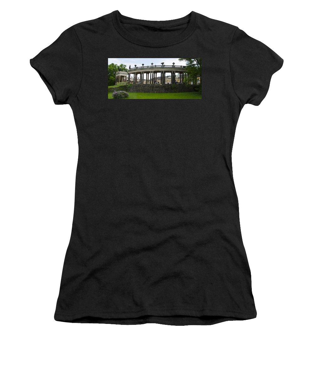 Neuer Garten Women's T-Shirt featuring the photograph Schloss Sanssouci Gardens by Jon Berghoff