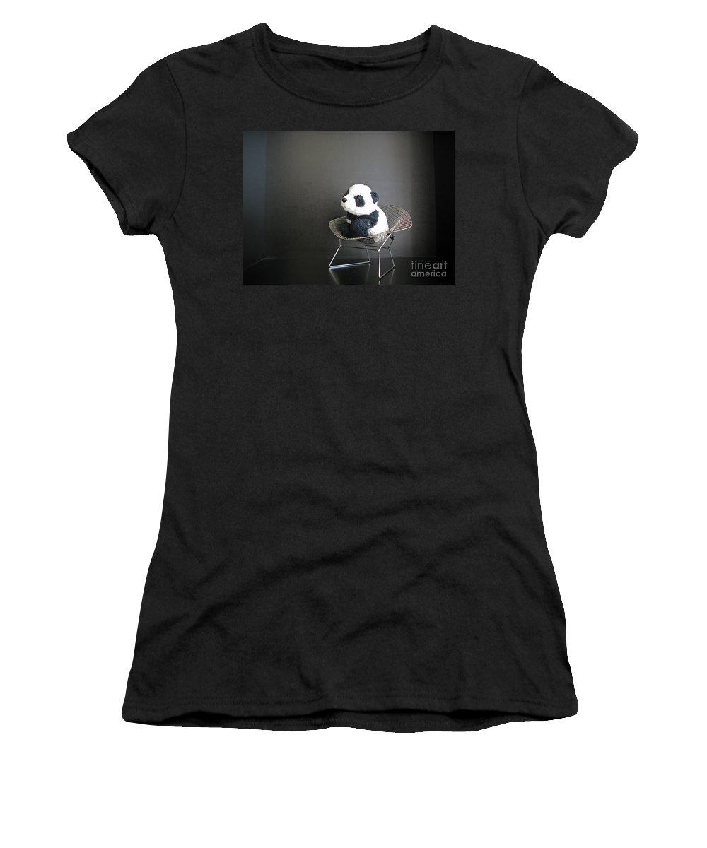 Travelling Pandas Women's T-Shirt (Athletic Fit) featuring the photograph Sitting Meditation. Floyd From Travelling Pandas Series. by Ausra Huntington nee Paulauskaite