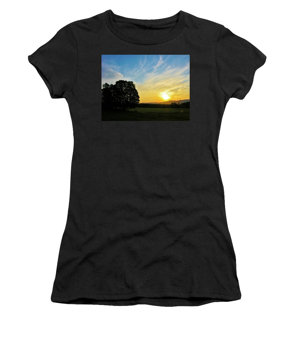 Sunrise Women's T-Shirt (Athletic Fit) featuring the photograph Six Am by Sherman Perry