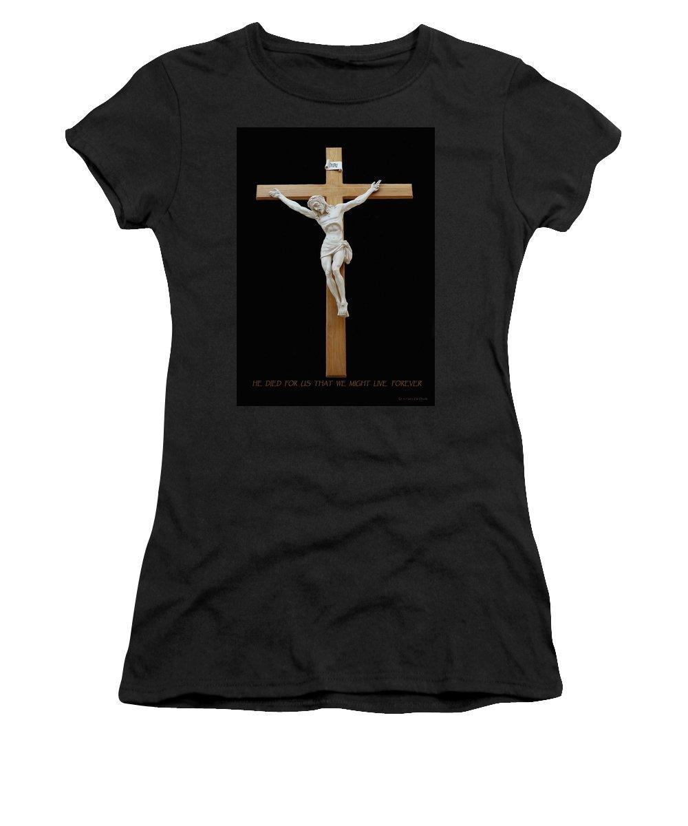 Jesus Women's T-Shirt featuring the photograph Sjncc Crucifix 1 Two K Eleven by Carl Deaville