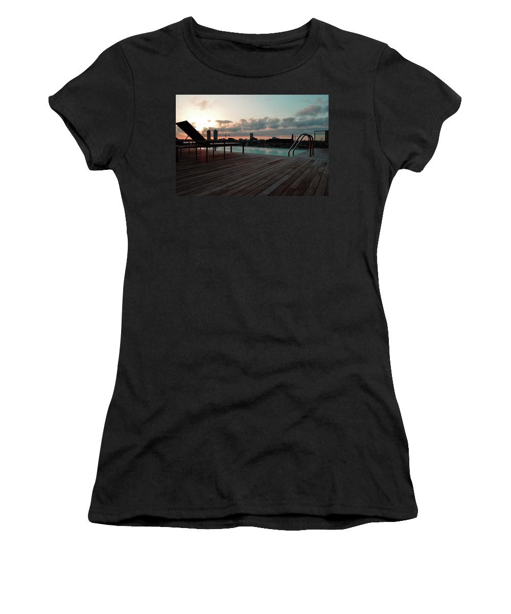 Pool Women's T-Shirt (Athletic Fit) featuring the photograph Skinny Dip Spanish Style by La Dolce Vita