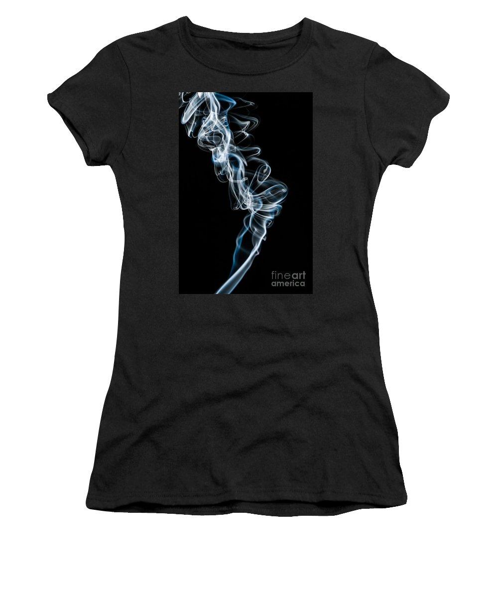 Smoke Women's T-Shirt featuring the photograph Smoke-5 by Larry Carr