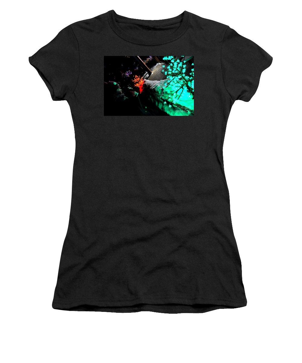 Snow Women's T-Shirt featuring the photograph Snowcolors by Anjanette Douglas