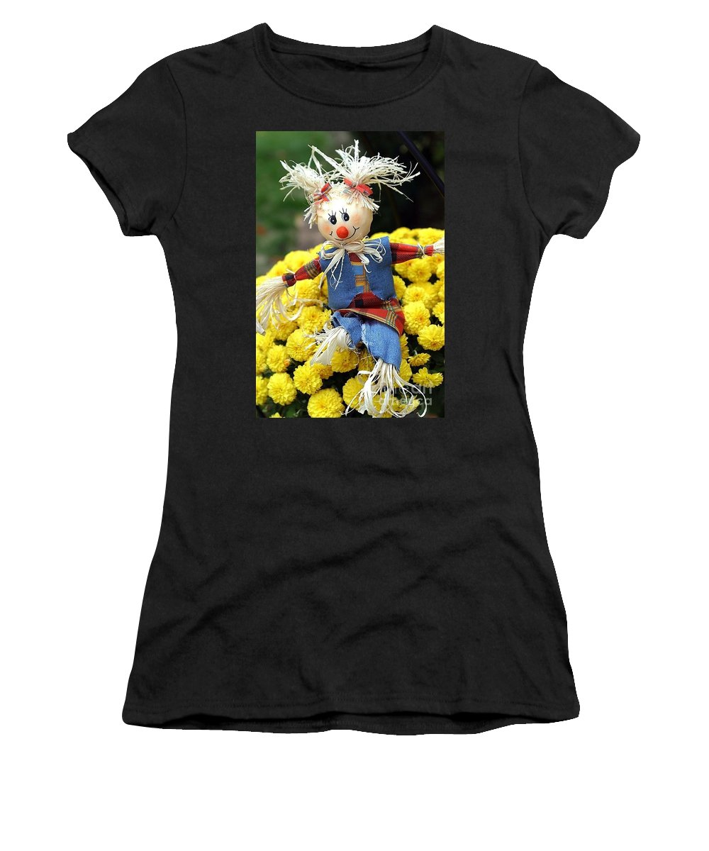 Autumn Women's T-Shirt (Athletic Fit) featuring the photograph So It's Fall Ya' All by Living Color Photography Lorraine Lynch