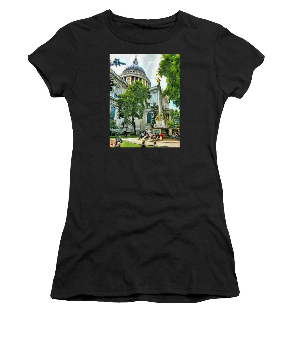 Art Women's T-Shirt (Athletic Fit) featuring the photograph St Paul Is Giving His Blessing by Steve Taylor