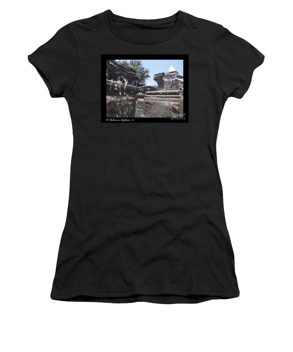 Water Women's T-Shirt (Athletic Fit) featuring the photograph Staggered Tiers by Rebecca Stephens