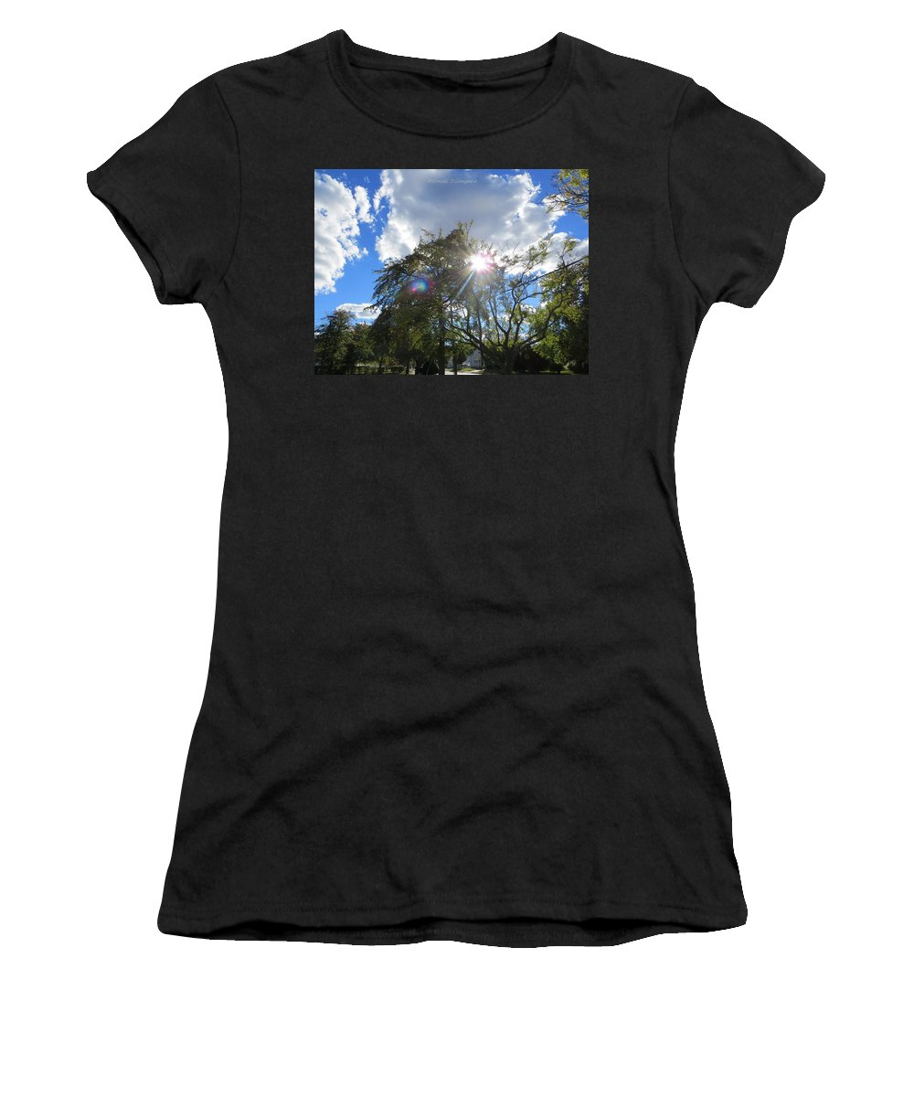 Helios Women's T-Shirt (Athletic Fit) featuring the photograph Star Called Helios by Sonali Gangane