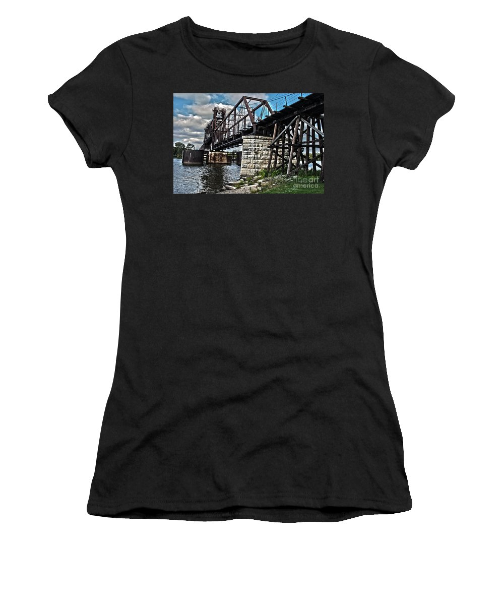 Beautiful Women's T-Shirt (Athletic Fit) featuring the photograph Steel Water Hdr Number 7 by Alan Look