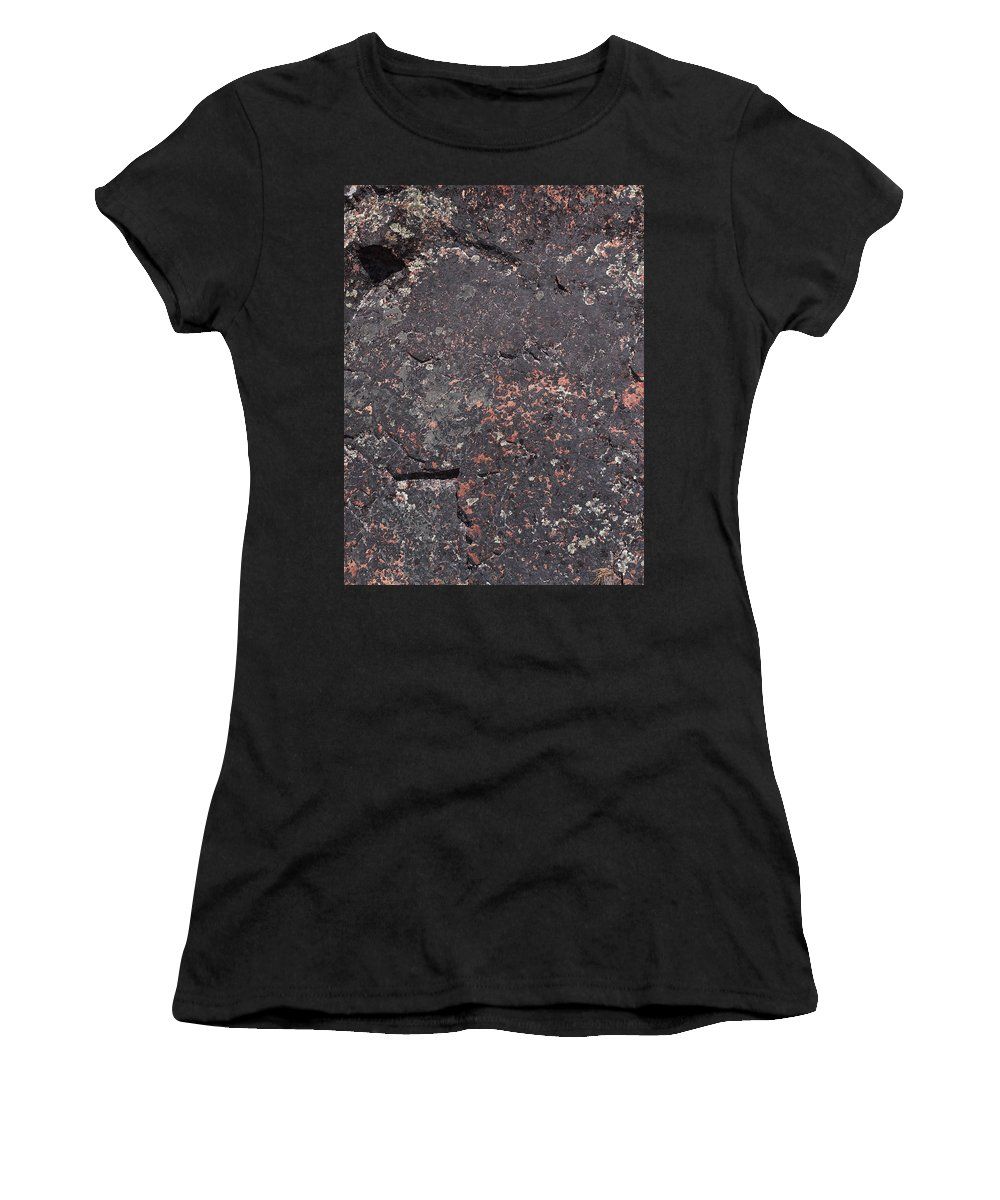 Lehtokukka Women's T-Shirt (Athletic Fit) featuring the photograph Stone Face by Jouko Lehto