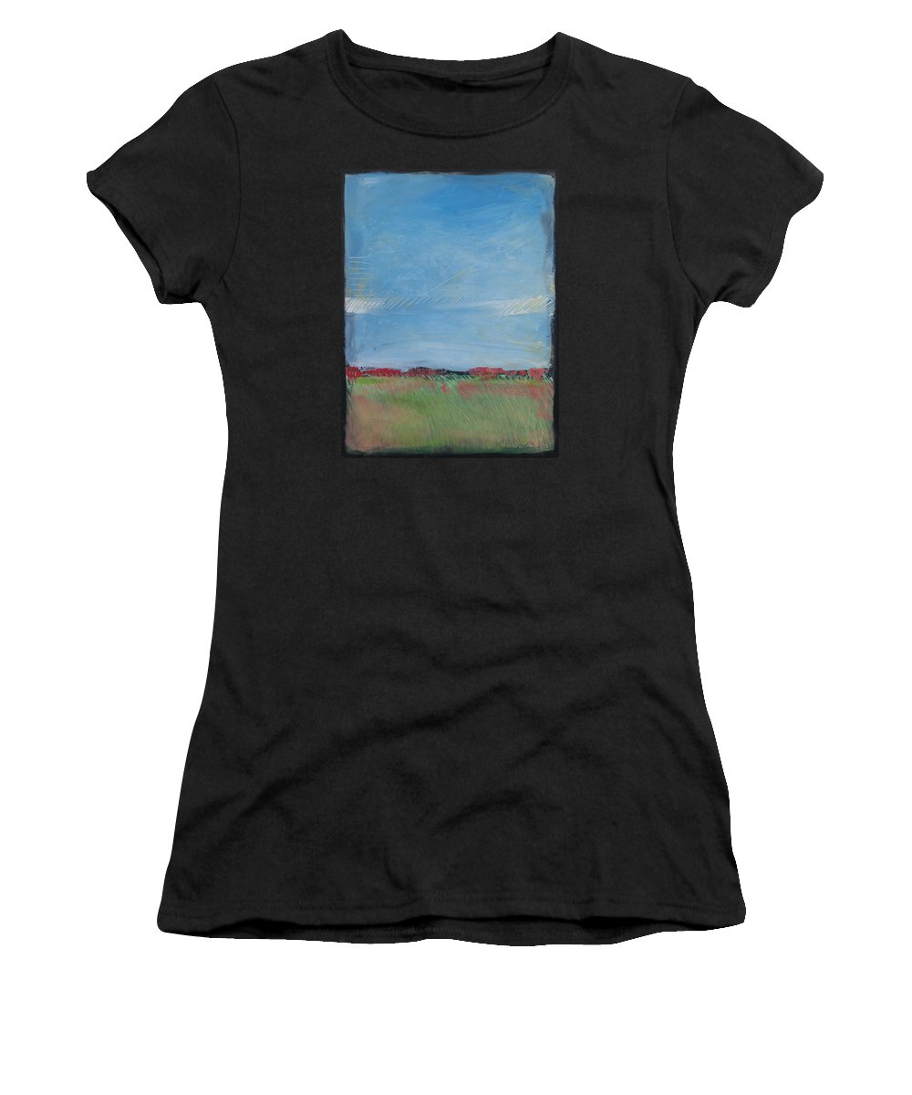 Summer Women's T-Shirt (Athletic Fit) featuring the painting Summer Field by Tim Nyberg