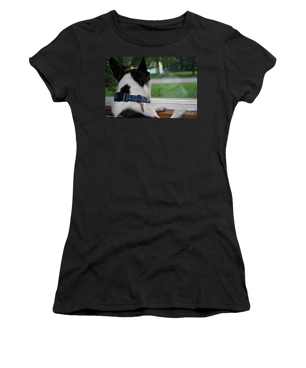 Animal Women's T-Shirt featuring the photograph Summer Reflection by Susan Herber