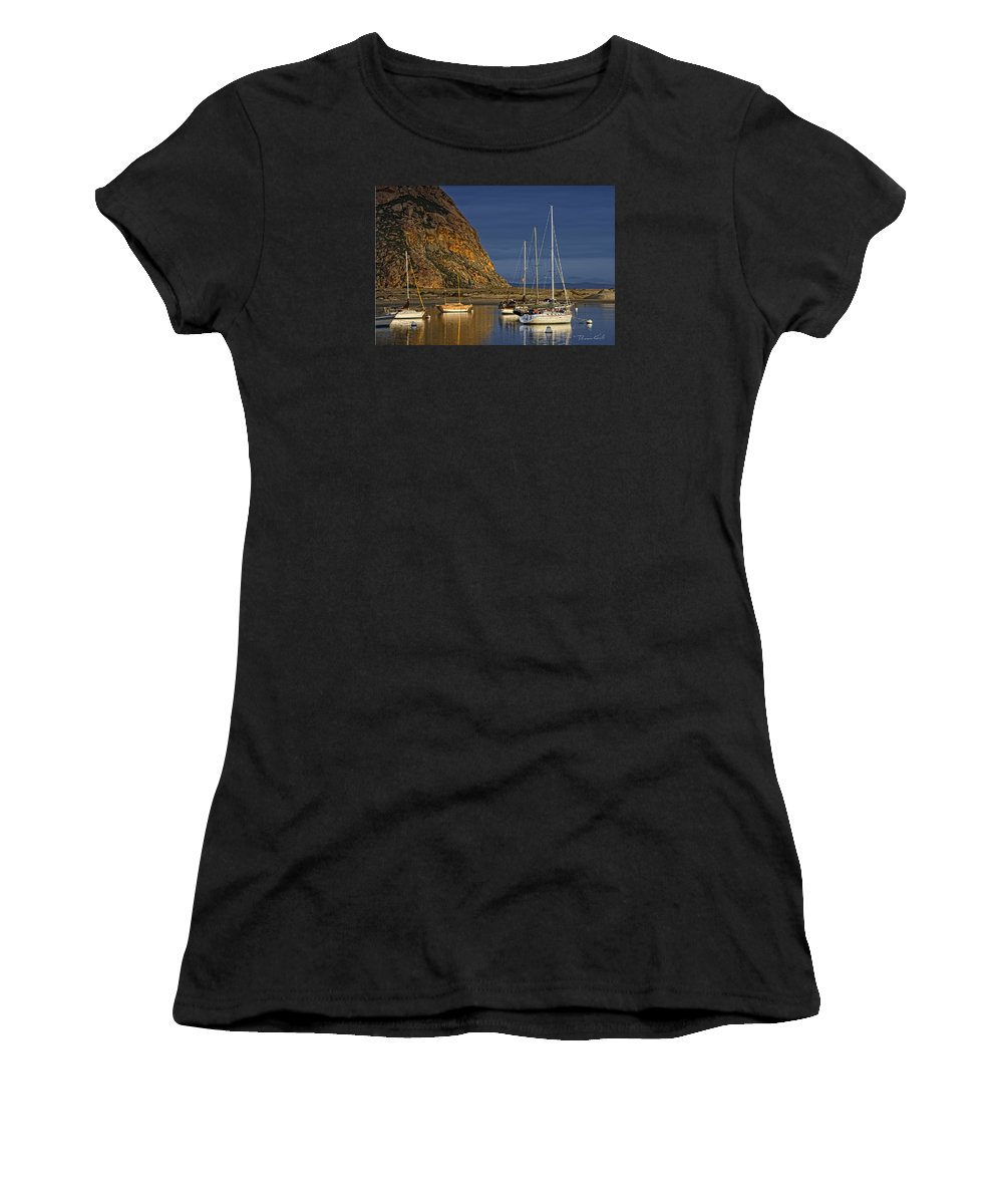 Sailboats Women's T-Shirt (Athletic Fit) featuring the photograph Sunday Morning by Thomas Karle