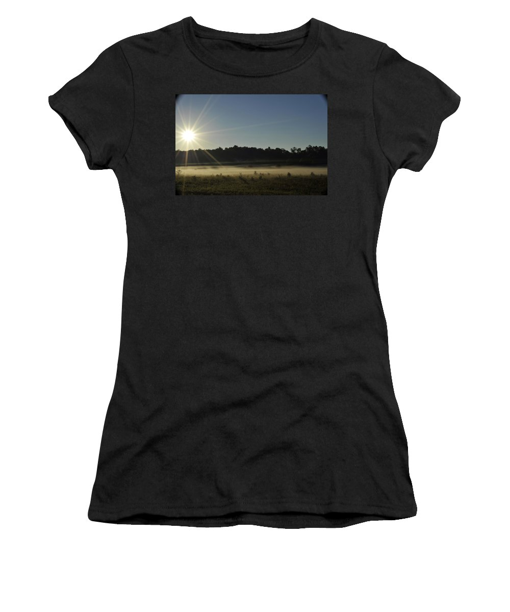 Sunrise Women's T-Shirt (Athletic Fit) featuring the photograph Sunrise In Waverley by Elaine Mikkelstrup