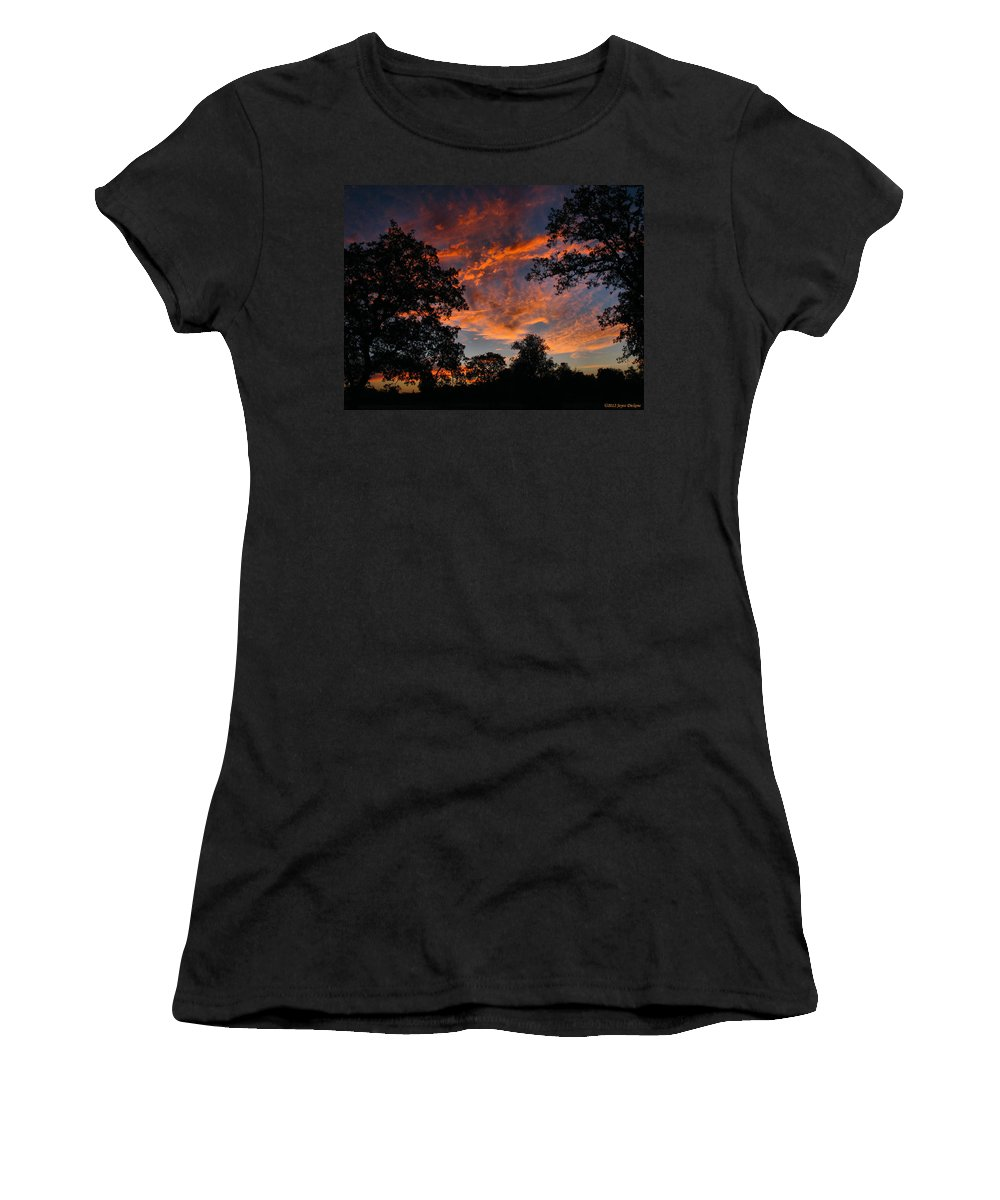 Sunset Women's T-Shirt (Athletic Fit) featuring the photograph Sunset 07 26 12 Two by Joyce Dickens