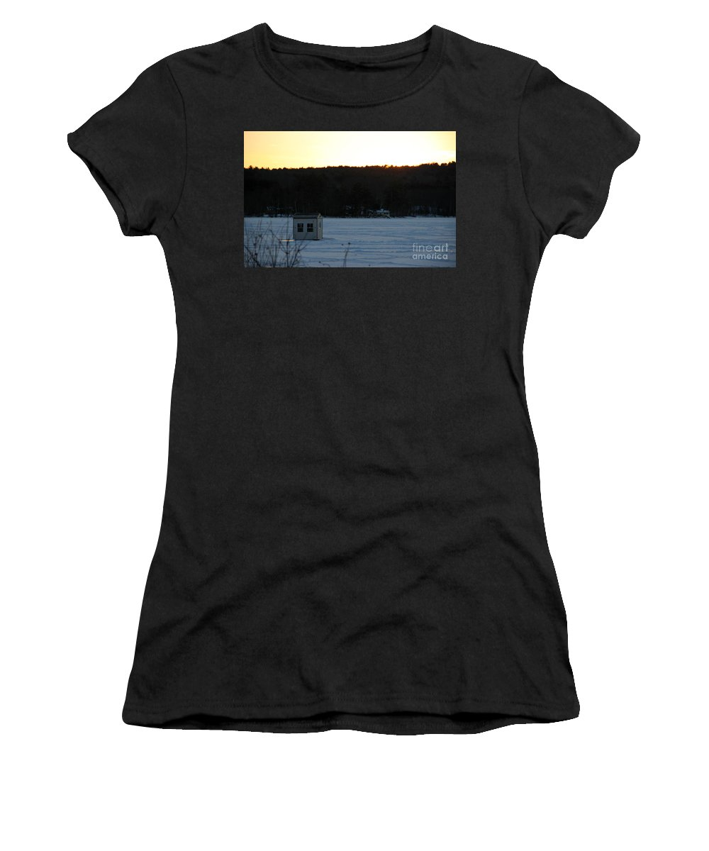 New Hampshire Women's T-Shirt (Athletic Fit) featuring the photograph Sunset Bob by Michael Mooney