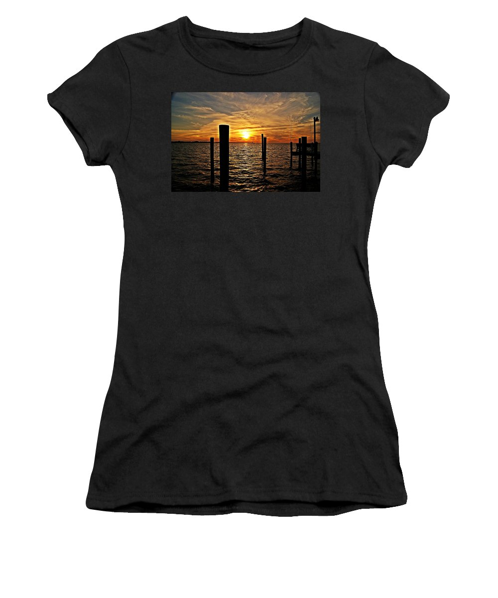 Sunset Women's T-Shirt featuring the photograph Sunset X by Joe Faherty