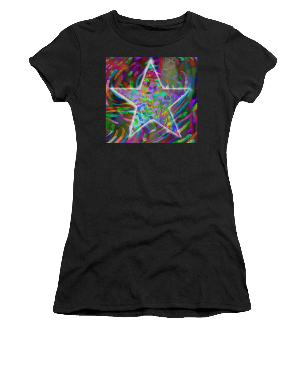 Star Women's T-Shirt (Athletic Fit) featuring the mixed media Super Star by Kevin Caudill