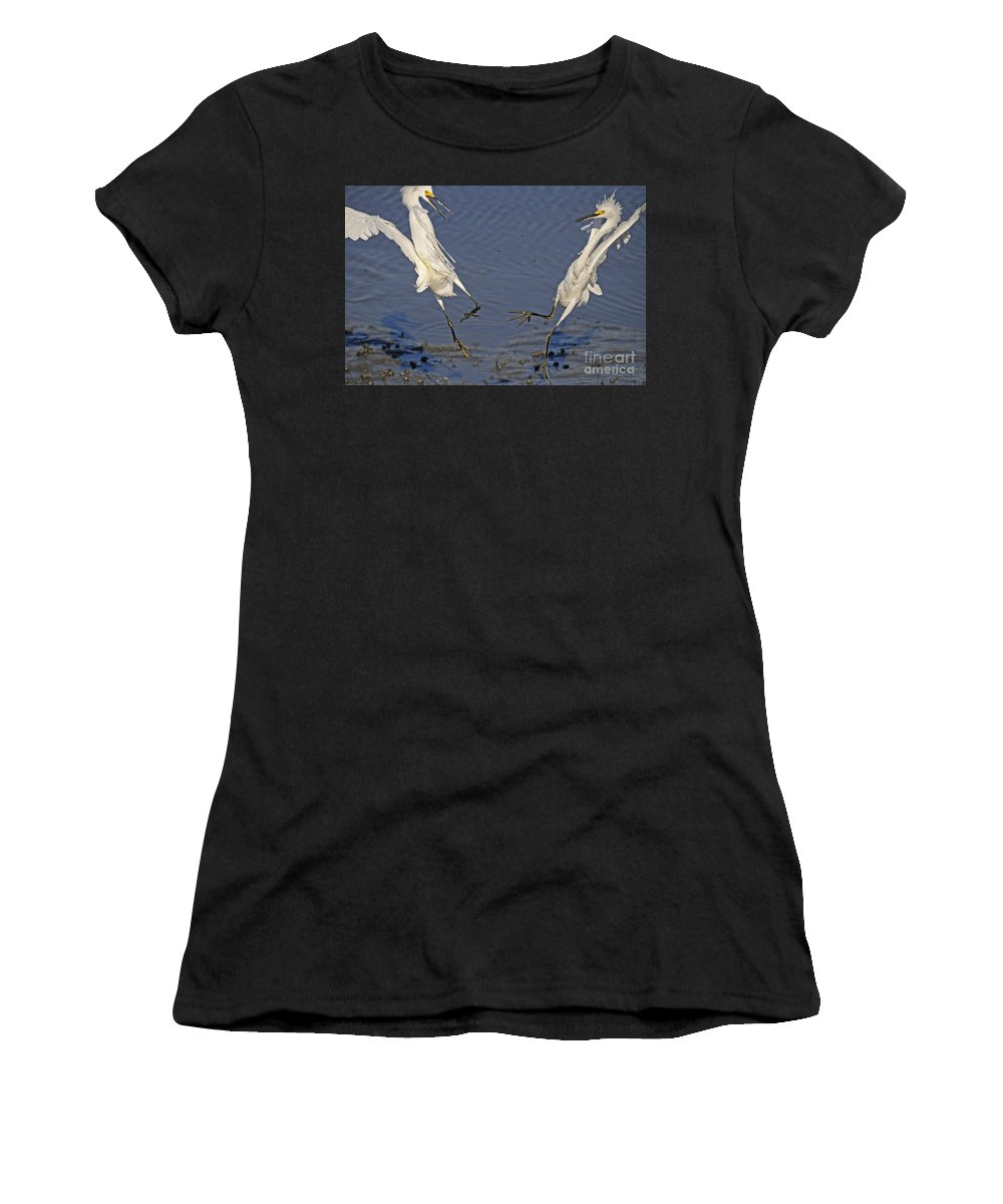 Great Women's T-Shirt (Athletic Fit) featuring the photograph Territory Dispute by TJ Baccari