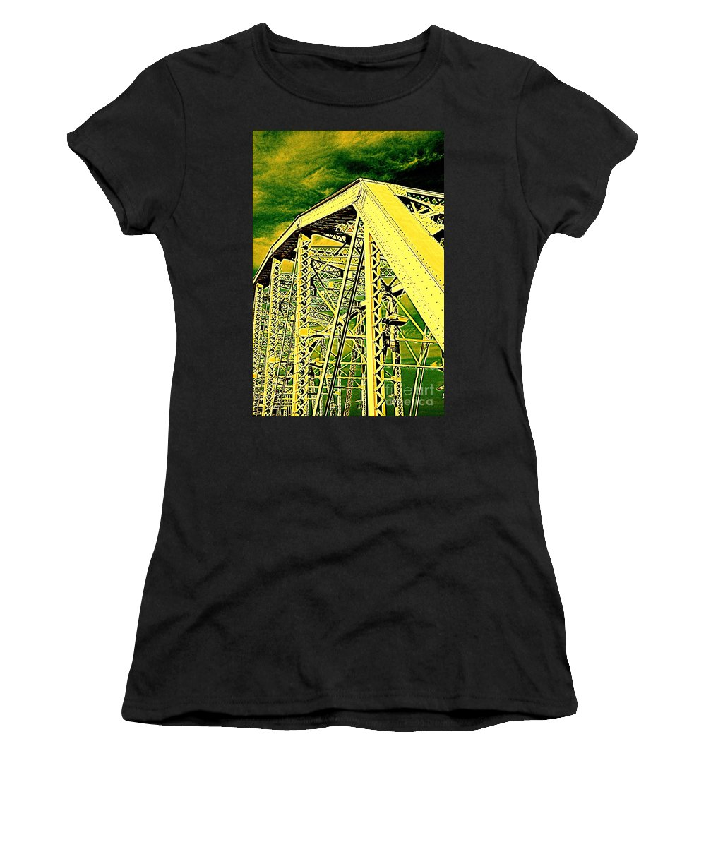 Bridge Women's T-Shirt (Athletic Fit) featuring the photograph The Bridge To The Skies by Susanne Van Hulst
