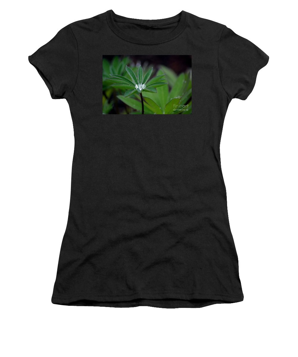 Green Women's T-Shirt (Athletic Fit) featuring the photograph The Drop by Living Color Photography Lorraine Lynch