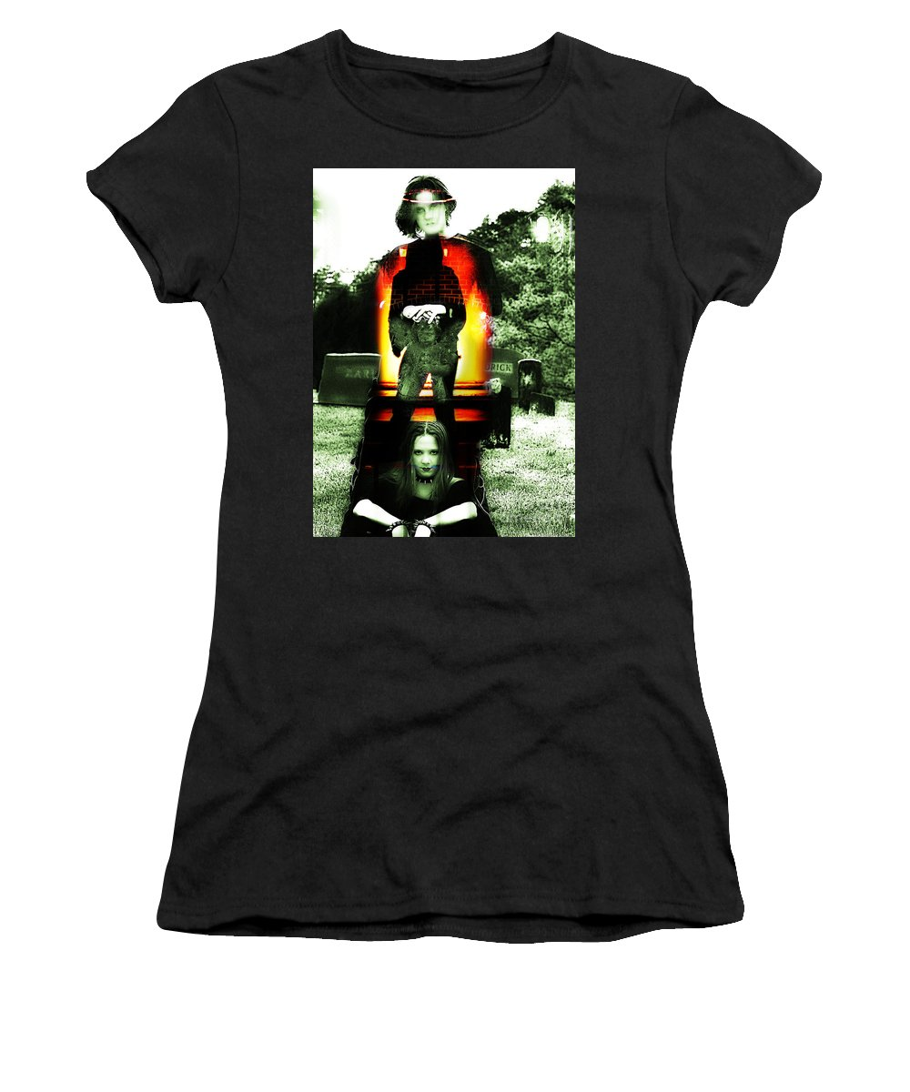 Clay Women's T-Shirt featuring the photograph The Evil Within by Clayton Bruster