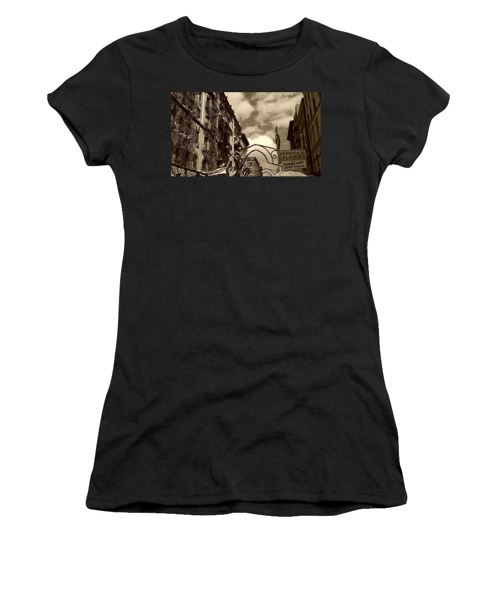 San Gennaro Women's T-Shirt featuring the photograph The Feast by Catie Canetti