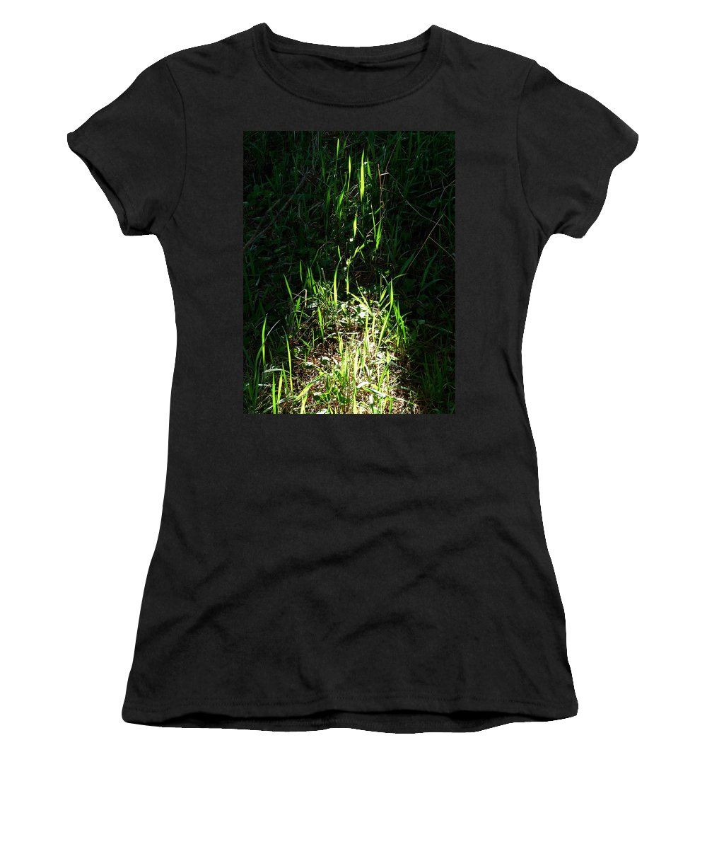 Green Flames Women's T-Shirt (Athletic Fit) featuring the photograph The Flames Of Green by Steve Taylor