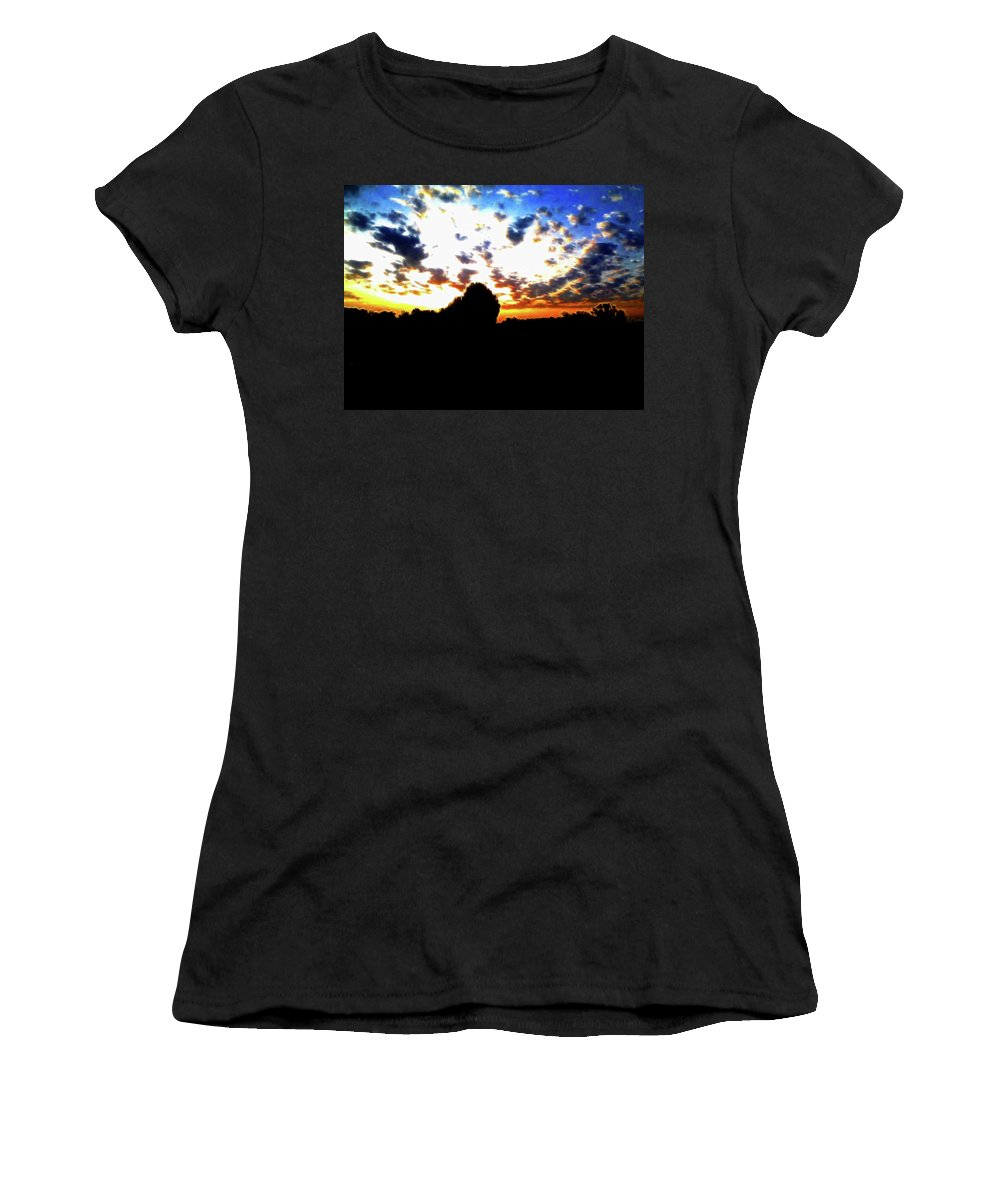 Sunrise Women's T-Shirt featuring the photograph The Gift Of A New Day by Lisa Stanley