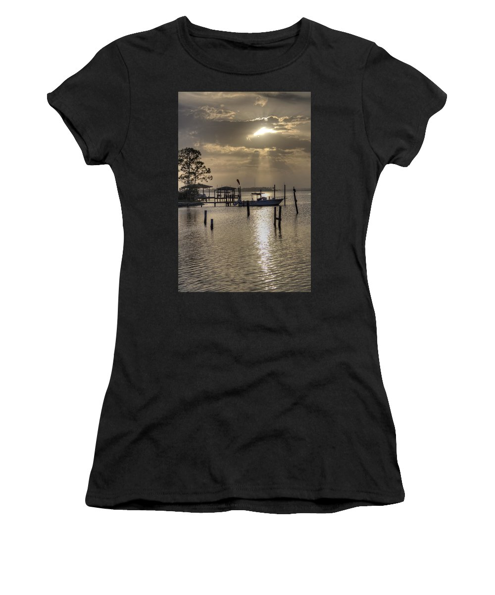 Golden Women's T-Shirt (Athletic Fit) featuring the photograph The Golden Hour IIi by David Troxel