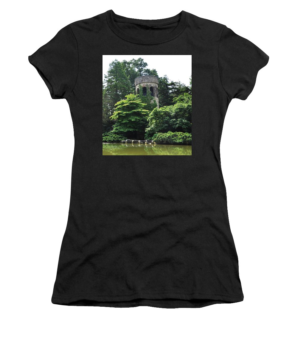 The Longwood Gardens Castle Women's T-Shirt (Athletic Fit) featuring the photograph The Longwood Gardens Castle by Bill Cannon